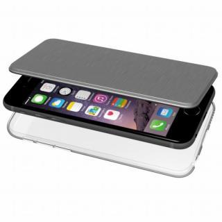【iPhone6s/6ケース】エアージャケット 手帳型ケース グレー iPhone 6s/6