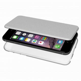 【iPhone6s ケース】エアージャケット 手帳型ケース シルバー iPhone 6s/6