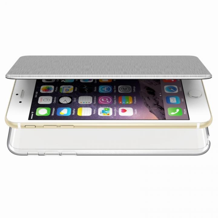 【iPhone6s Plus/6 Plusケース】エアージャケット 手帳型ケース シルバー iPhone 6s Plus/6 Plus_0