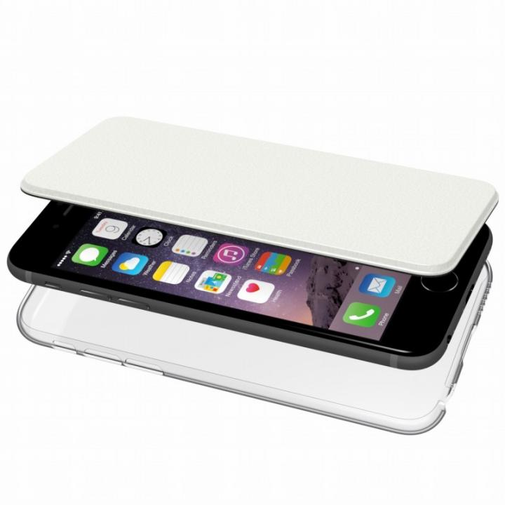 【iPhone6s/6ケース】エアージャケット 手帳型ケース ホワイト iPhone 6s/6_0