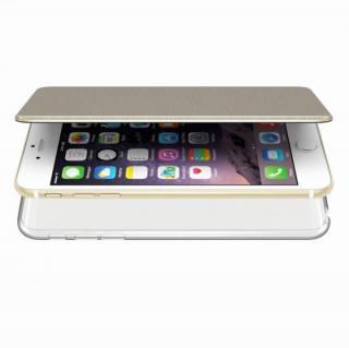 エアージャケット 手帳型ケース ゴールド iPhone 6s Plus/6 Plus