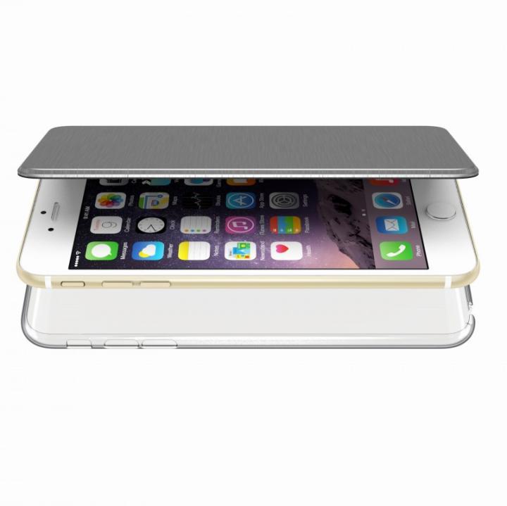 【iPhone6s Plus/6 Plusケース】エアージャケット 手帳型ケース グレー iPhone 6s Plus/6 Plus_0