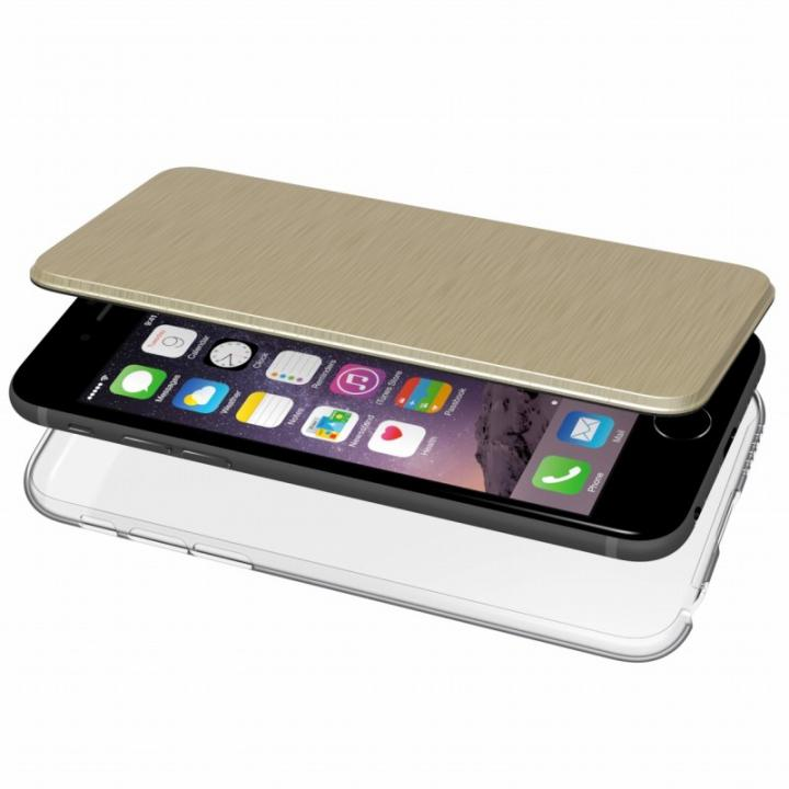 【iPhone6s/6ケース】エアージャケット 手帳型ケース ゴールド iPhone 6s/6_0