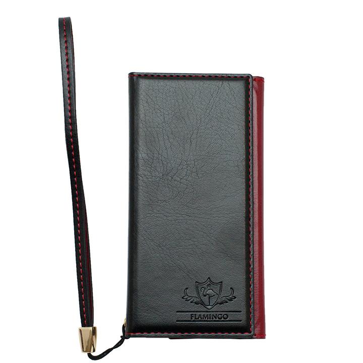 iPhone SE/5s/5 ケース FLAMINGO PUレザー手帳型ケース ブラック iPhone SE/5s/5_0