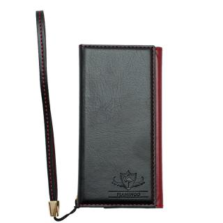 FLAMINGO PUレザー手帳型ケース ブラック iPhone SE/5s/5