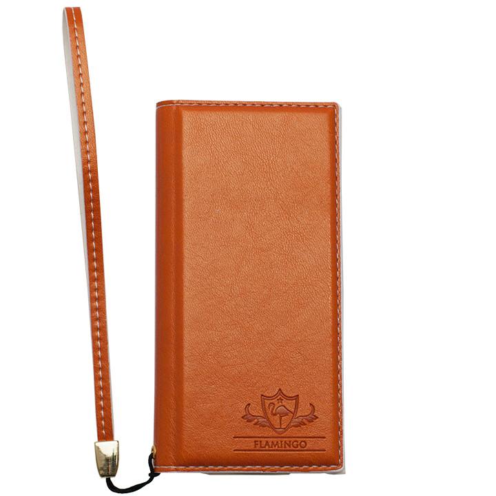 iPhone SE/5s/5 ケース FLAMINGO PUレザー手帳型ケース オレンジ iPhone SE/5s/5_0