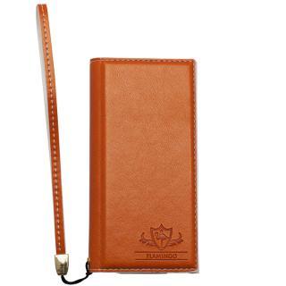 【iPhone SE/5s/5ケース】FLAMINGO PUレザー手帳型ケース オレンジ iPhone SE/5s/5