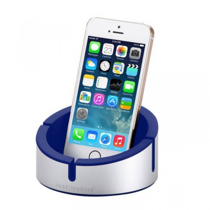 多目的デスクトップスタンド Just Mobile AluCup Grande ブルー