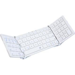 3E Bluetooth Keyboard  TENPLUS  3つ折りタイプ ホワイト×パールホワイト ケース付属