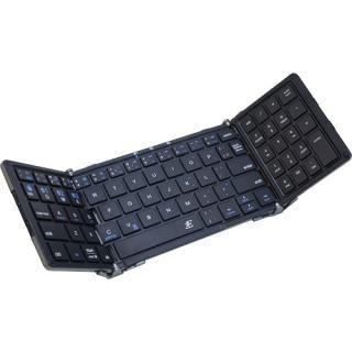 3E Bluetooth Keyboard  TENPLUS  3つ折りタイプ ブラック×グレー ケース付属