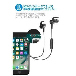 TaoTronics TT-BH026 Bluetoothイヤホン IPX5防滴 ブルー_5