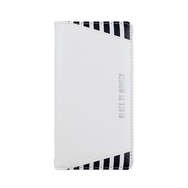 iPhone8/7 ケース BLACK BY MOUSSY ストライプ 手帳型ケース ホワイト iPhone 8/7【4月中旬】_0