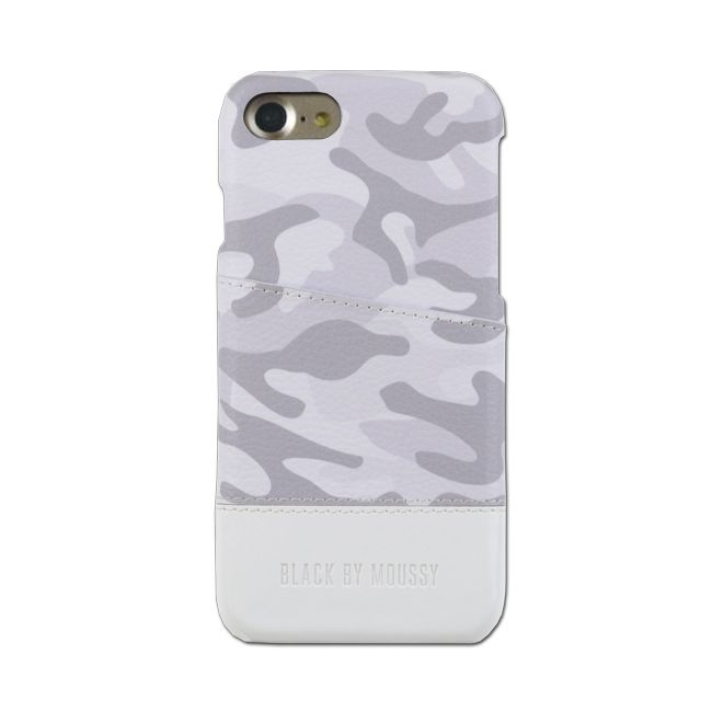 iPhone8/7 ケース BLACK BY MOUSSY 迷彩 ハードケース ホワイト iPhone SE 第2世代/8/7_0