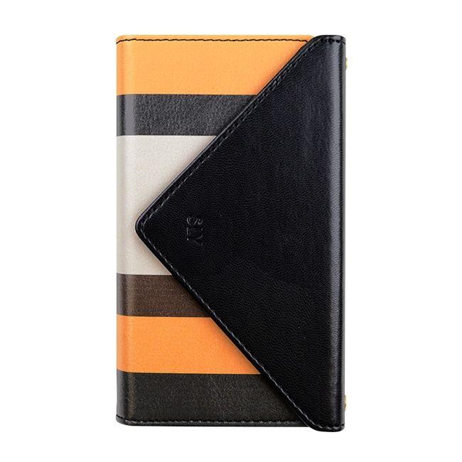 【iPhone8/7ケース】SLY 3つ折り手帳型ケース ストライプ イエロー iPhone 8/7【12月下旬】_0