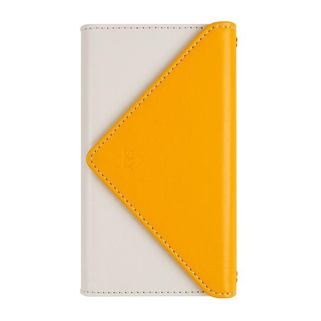【iPhone8/7ケース】SLY 3つ折り手帳型ケース バイカラー イエロー/ホワイト iPhone 8/7_0