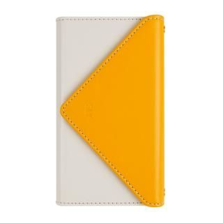 iPhone8/7 ケース SLY 3つ折り手帳型ケース バイカラー イエロー/ホワイト iPhone 8/7