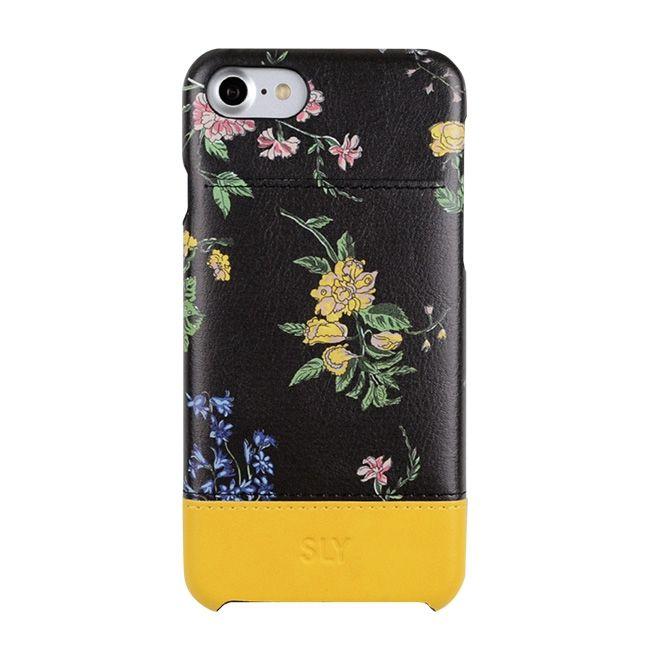 iPhone8/7 ケース SLY ナイトフラワー 背面ケース ブラック iPhone SE 第2世代/8/7_0