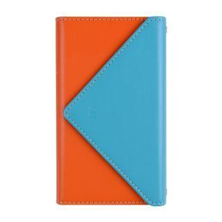 【iPhone8/7ケース】SLY 3つ折り手帳型ケース バイカラー ブルー/オレンジ iPhone 8/7