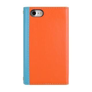 【iPhone8/7ケース】SLY 3つ折り手帳型ケース バイカラー ブルー/オレンジ iPhone 8/7_1