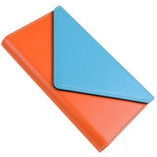 【iPhone8/7ケース】SLY 3つ折り手帳型ケース バイカラー ブルー/オレンジ iPhone 8/7_3