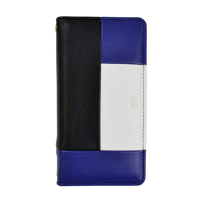 iPhone8/7/6s/6 ケース SLY COLOR BROCKING 手帳型ケース ORANGE ブルー iPhone 8/7/6s/6_0