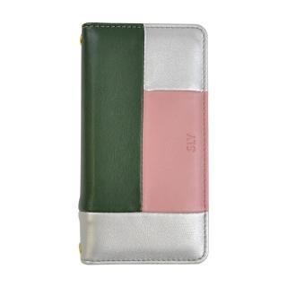 【iPhone8/7/6s/6ケース】SLY COLOR BROCKING 手帳型ケース ORANGE シルバー iPhone 8/7/6s/6