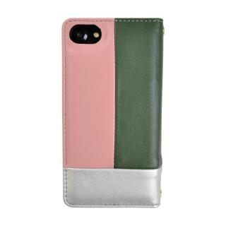 【iPhone8/7/6s/6ケース】SLY COLOR BROCKING 手帳型ケース ORANGE シルバー iPhone 8/7/6s/6_1