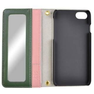 【iPhone8/7/6s/6ケース】SLY COLOR BROCKING 手帳型ケース ORANGE シルバー iPhone 8/7/6s/6_3
