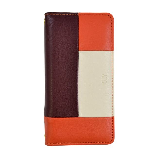 SLY COLOR BROCKING 手帳型ケース ORANGE オレンジ iPhone 8/7/6s/6【9月下旬】