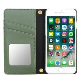 【iPhone8/7/6s/6ケース】SLY DARK GRASSES 手帳型レザーケース モスグリーン iPhone 8/7/6s/6_3