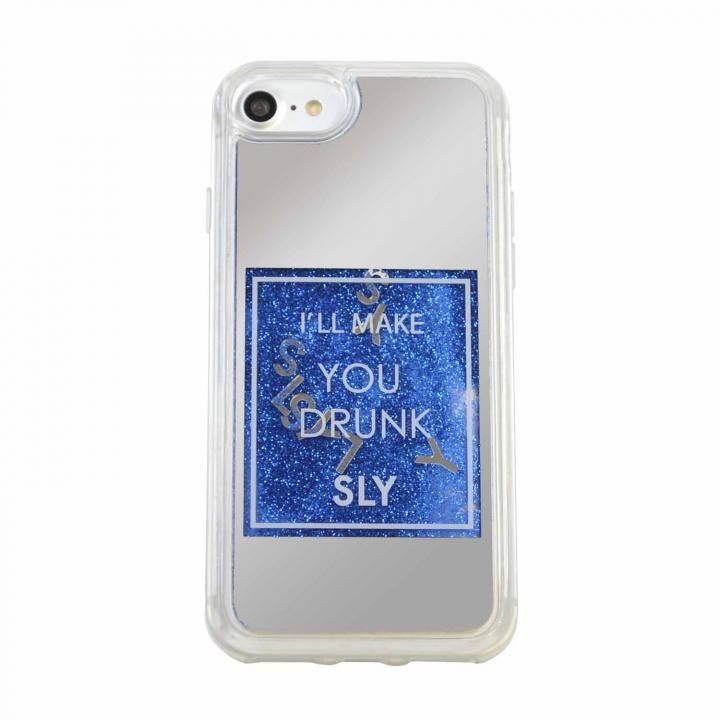iPhone8/7/6s/6 ケース SLY ウォーターミラーケース ブルー iPhone SE 第2世代/8/7/6s/6_0