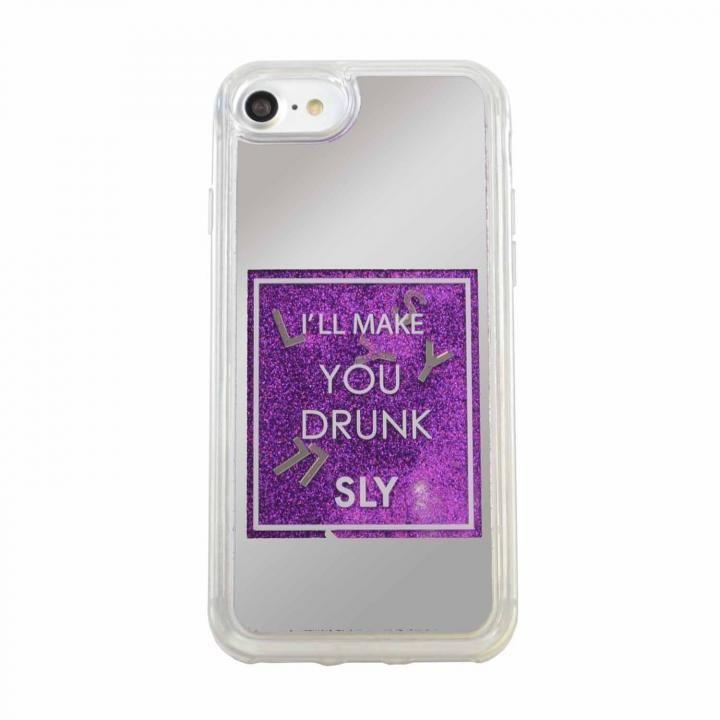 iPhone8/7/6s/6 ケース SLY ウォーターミラーケース パープル iPhone SE 第2世代/8/7/6s/6_0