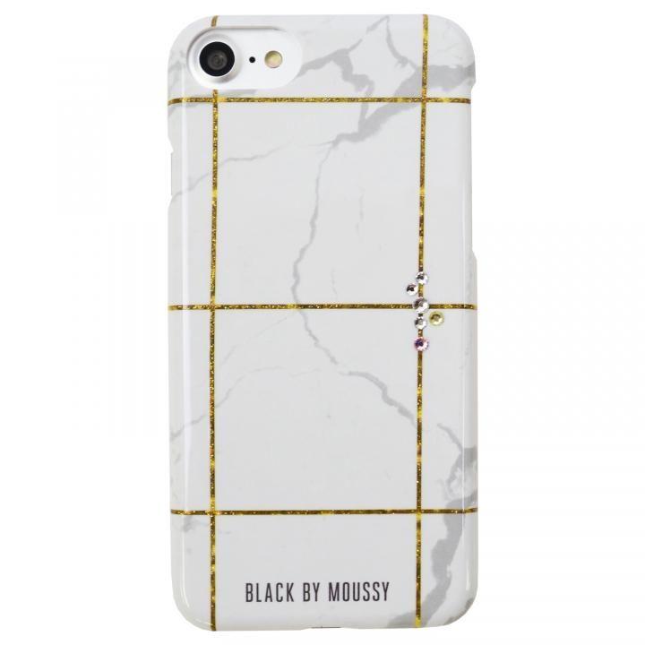 iPhone8/7/6s/6 ケース BLACK BY MOUSSY 大理石柄 背面ケース ブラック ホワイト iPhone 8/7/6s/6【9月下旬】_0