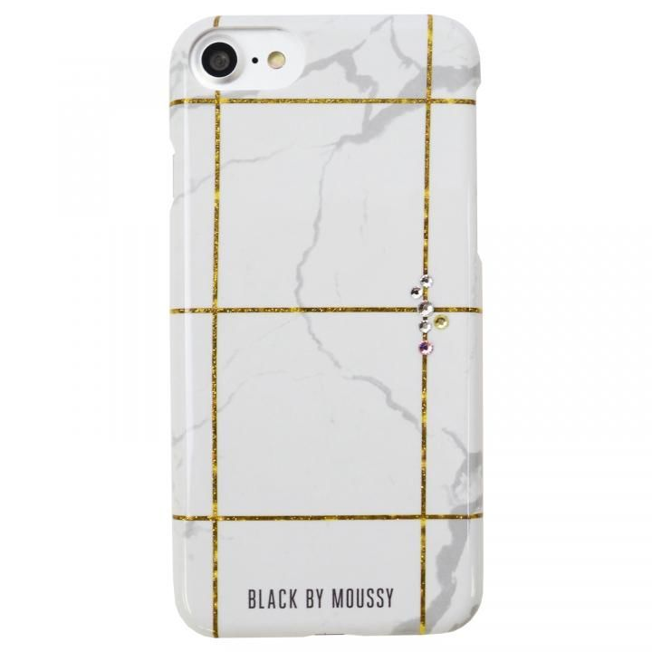 iPhone8/7/6s/6 ケース BLACK BY MOUSSY 大理石柄 背面ケース ブラック ホワイト iPhone SE 第2世代/8/7/6s/6_0