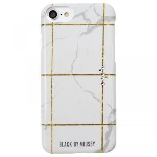 iPhone8/7/6s/6 ケース BLACK BY MOUSSY 大理石柄 背面ケース ブラック ホワイト iPhone 8/7/6s/6【11月下旬】