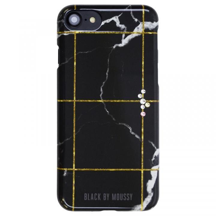 iPhone8/7/6s/6 ケース BLACK BY MOUSSY 大理石柄 背面ケース ブラック ブラック iPhone 8/7/6s/6【9月下旬】_0