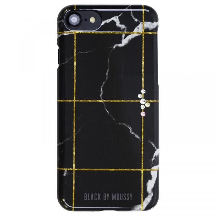 iPhone8/7/6s/6 ケース BLACK BY MOUSSY 大理石柄 背面ケース ブラック ブラック iPhone SE 第2世代/8/7/6s/6_0