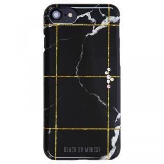 iPhone8/7/6s/6 ケース BLACK BY MOUSSY 大理石柄 背面ケース ブラック ブラック iPhone 8/7/6s/6【6月下旬】