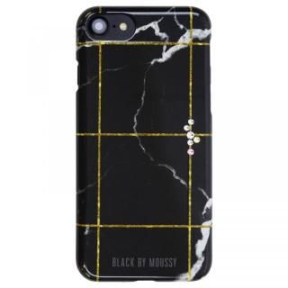 iPhone8/7/6s/6 ケース BLACK BY MOUSSY 大理石柄 背面ケース ブラック ブラック iPhone 8/7/6s/6【2月上旬】
