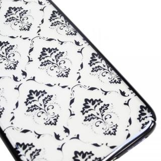 【iPhone XS/Xケース】BLACK BY MOUSSY ダマスク柄 クリア背面ケース ブラック iPhone XS/X_3