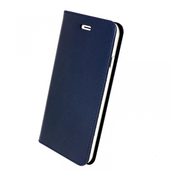 【iPhone6s/6ケース】手帳×アルミバンパーケース Cuoio 紺×シルバー iPhone 6s/6_0