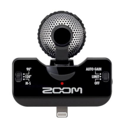 360°の音を録音可能なステレオマイク iQ5 ブラック_0