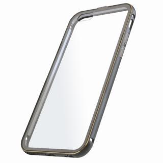 【iPhone6ケース】背面保護クリアプレート付 アルミバンパー ブラック iPhone 6_1