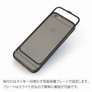 【iPhone6ケース】背面保護クリアプレート付 アルミバンパー ブラック iPhone 6_2