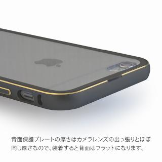 【iPhone6ケース】背面保護クリアプレート付 アルミバンパー ブラック iPhone 6_3