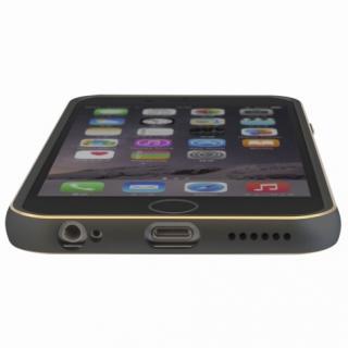【iPhone6ケース】背面保護クリアプレート付 アルミバンパー ブラック iPhone 6_4