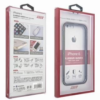 【iPhone6ケース】背面保護クリアプレート付 アルミバンパー ブラック iPhone 6_5