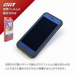 【iPhone6ケース】背面保護クリアプレート付 アルミバンパー ブラック iPhone 6_6