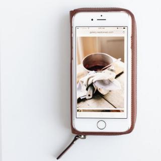 【iPhone6ケース】お財布付き手帳型ケース ZIP-Around ブラウン iPhone 6s/6_2