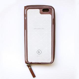 【iPhone6ケース】お財布付き手帳型ケース ZIP-Around ブラウン iPhone 6s/6_3